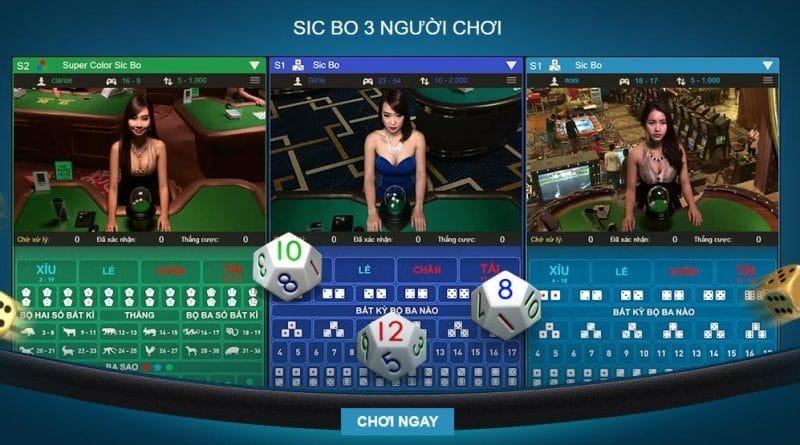 Các cửa cược trong Game bài Sicbo